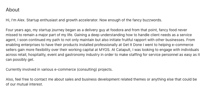interesting summary LinkedIn